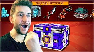 OMG! 3 ORIENTAL SUPER LOTTERY CHEST OPENING THE HUNT FOR NEW WEAPONS | Pixel Gun 3D
