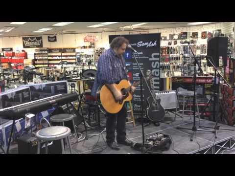 Bobbo at Sam Ash Music Store