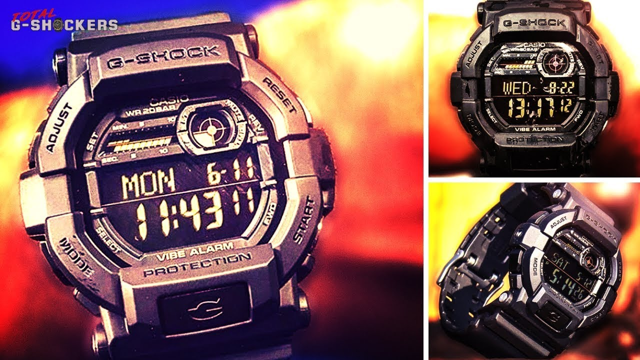 1c48c79bd Casio G-Shock GD350-1B - Great Sports Watch - VIBE ALERT - GD350-1B G-Shock  Black Digital Watch