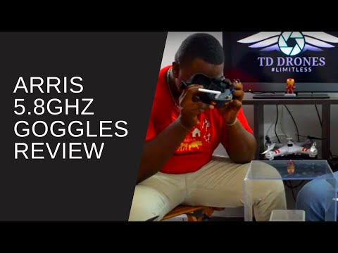 Arris 5.8GHZ FPV Goggles In Depth Review - VR 009 Budget FPV Goggles | TD Drones Reviews Episode 1