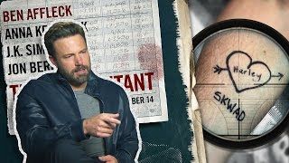 BEN AFFLECK REACTS TO BADASS TATTOO by SUICIDE SQUAD