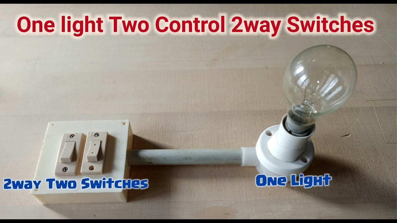 One Light Two Way Switch Connection Youtube Wiring A To Lights