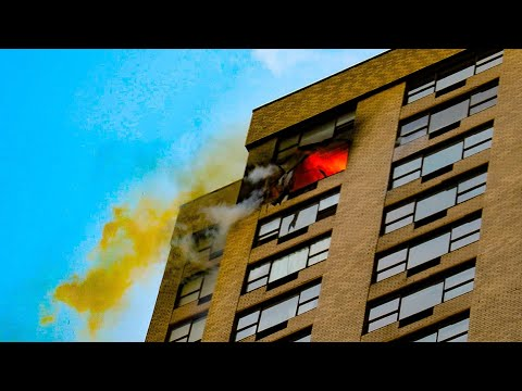 | FDNY 2nd Alarm Box 915 | Heavy Fire Engulfs High-Rise Apartment On W. 56 Street; Fatal