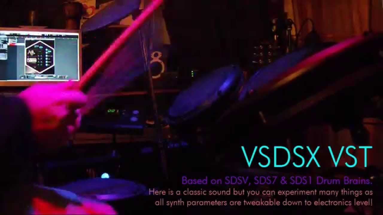 vsdsx vst simmons sdsv 80s drum synth pad triggers youtube. Black Bedroom Furniture Sets. Home Design Ideas