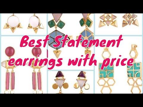 Amazon Stylish statement earrings with price || Amazon jewellery fashionable gold plated earrings