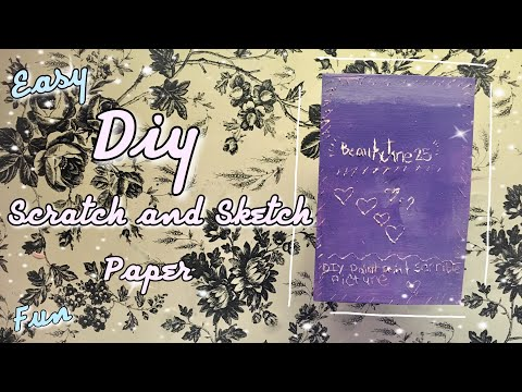 DIY Scratch Off Paper !!How To Make A Scratch - Off Paper Out Of TWO THINGS !!Easy and Fun !!