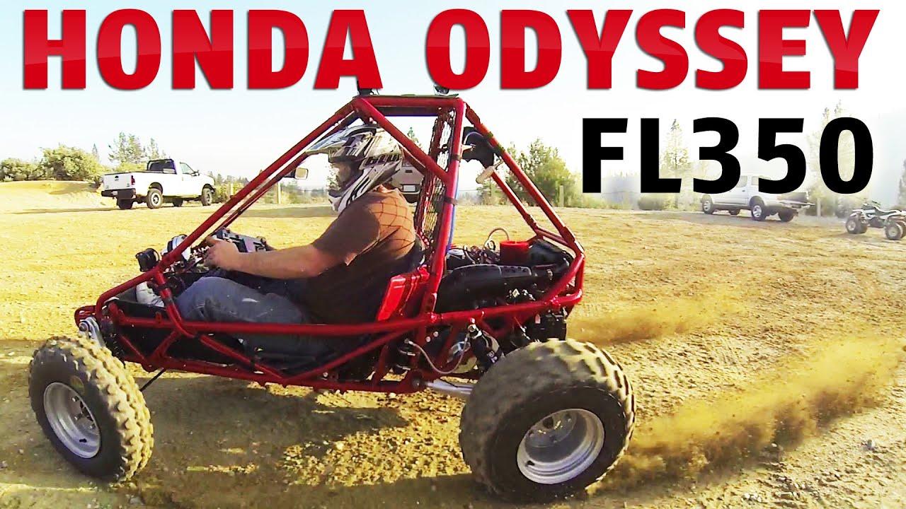 1985 Honda Odyssey FL350R Mini Buggy ATV First Test Ride