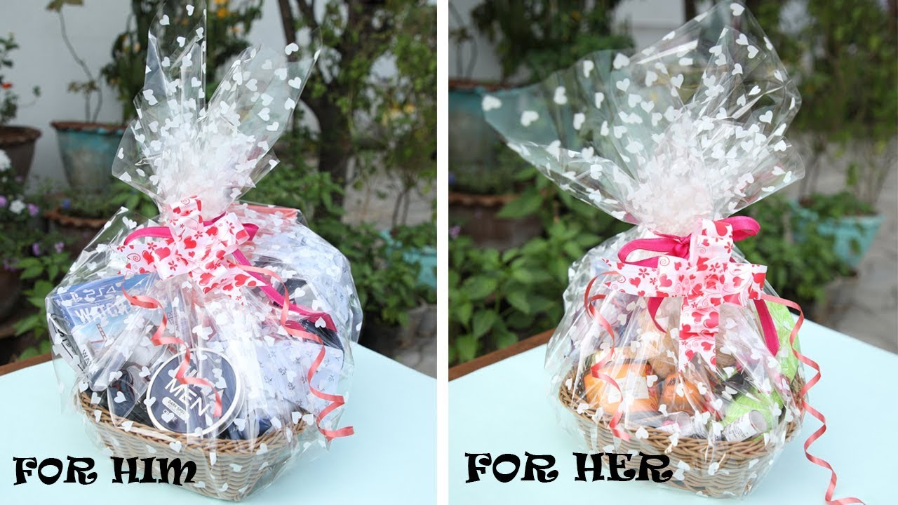 Valentine S Day Gift Basket Ideas Diy Gift Ideas Easy And