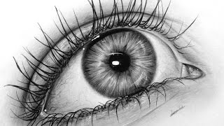 How to draw a realistic eye with graphite, drawing tutorial   Leontine van vliet