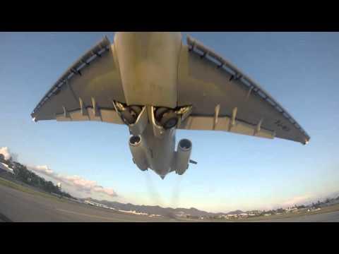 Very Rare Insel Air Close Takeoff at St. Maarten