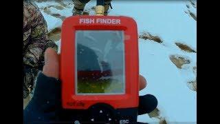 Эхолот Fish Finder с Алиэкспресс. Испытание зимой, ЧЕРЕЗ ЛЕД!Ссылка на продавца в описании.