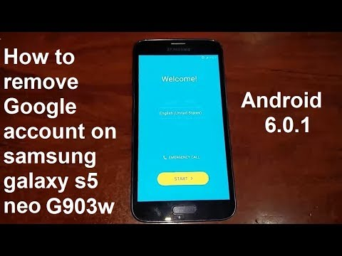 how to remove google account on samsung galaxy s5 neo G903w android 6.0.1