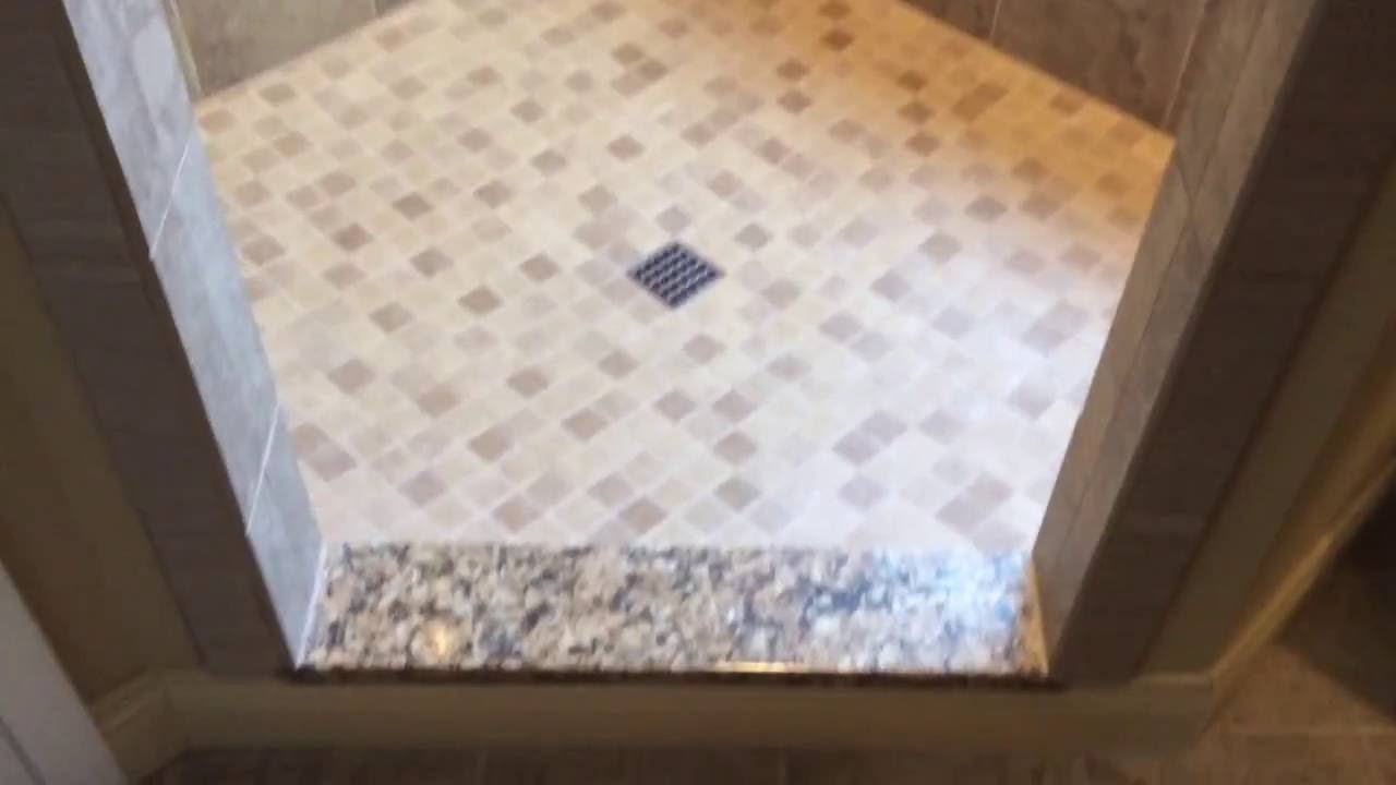 Tuscany style bathroom remodel with steam shower - YouTube