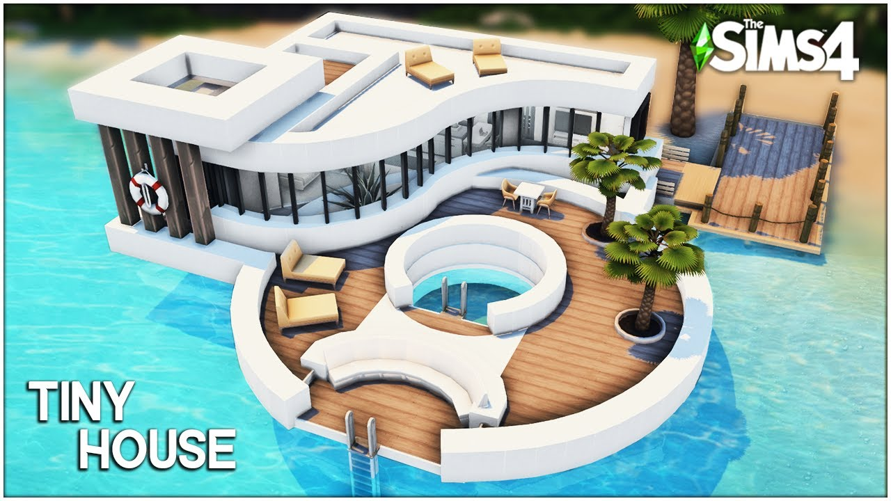 Tiny Ocean House [No CC] - Sims 4 Speed Build | Kate Emerald