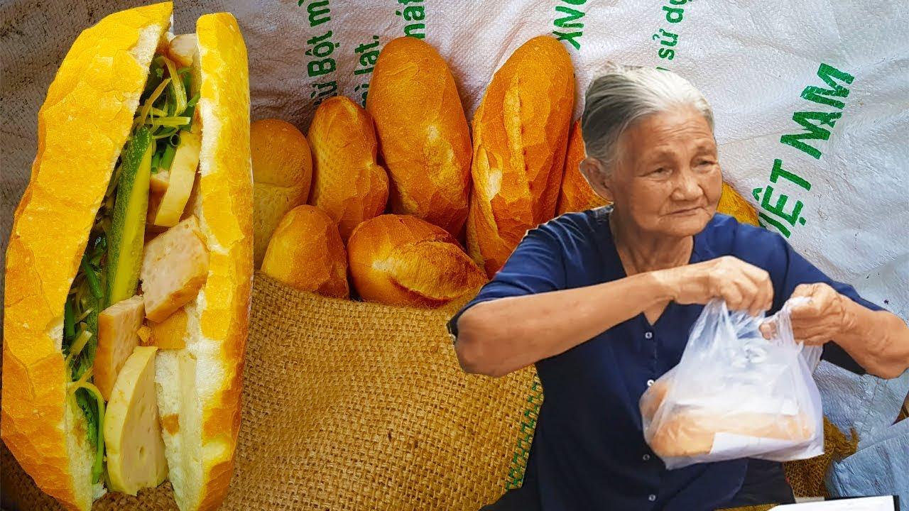 Sức hút bánh mì chả lụa của Cụ Bà 80 tuổi bán từ 1975 luôn đông khách ở Sài Gòn | street food