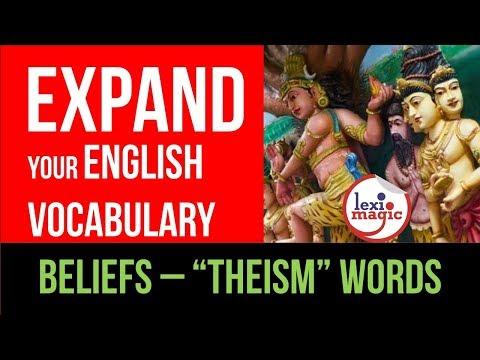 Religious Beliefs – THEISM Words