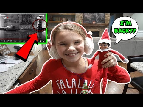 Elf On The Shelf Came Back! Elf Caught Moving On Camera! How To Get Your Elf To Come Early!