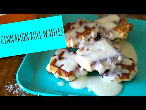 Homemade Cinnamon Roll Waffles! - La Cooquette -