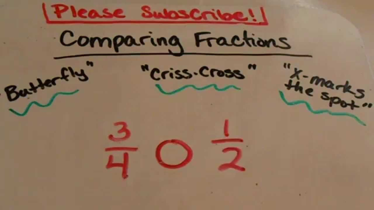 medium resolution of Comparing Fractions trick (3rd grade and up) - YouTube