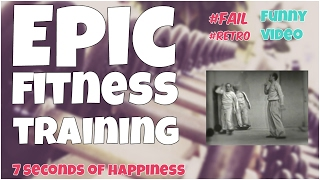 21 seconds of epic fitness training bw★ 7 second of happiness Retro FUNNY 😂#347