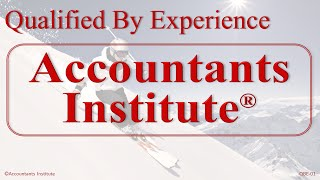 Qualified By Experience to Registered Qualified Accountant