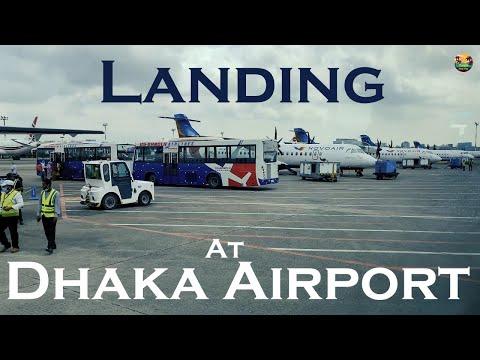 Beautiful Landing At Dhaka Airport | 4K | US- Bangla Airlines |