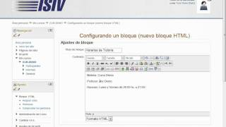 Bloque HTML - Aula Virtual Instituto ISIV