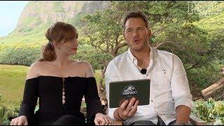 Chris Pratt & Bryce Dallas How ard Answer Kids' CuteJura ssic WorldQuestions