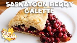Vegan Saskatoon Berry Galette aka What Happens When You Fail At Pie