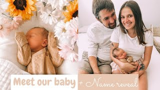 MEET OUR BABY!! | NAME + GENDER REVEAL