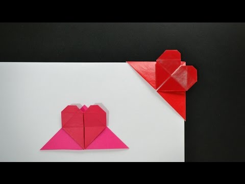 Origami Heart Bookmark Instructions In English Br Youtube