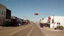A drive down Main Street Shamrock Texas