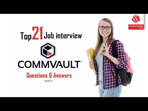 Commvault Interview Questions And Answers 2019 Part-2 | Commvault | Wisdom IT Services