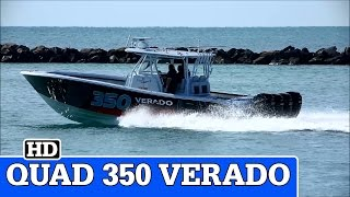 Quad Mercury Verado 350's | Yellowfin Running in Miami