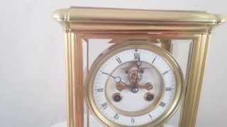 Antique French 4 Glass Mantel Clock
