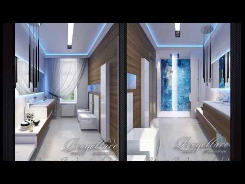 Дизайн ванной, интерьер современного санузла, интерьер ванной в современном стиле
