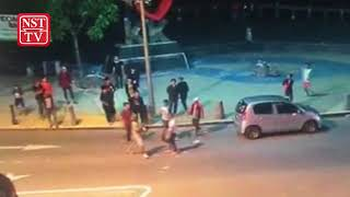 Police scrutinising CCTV footage of street fight in downtown KK