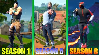 Evolution of ALL Fortnite Dances [Season 1 to 8]