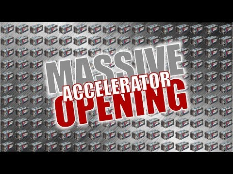 MASSIVE 50+ ACCELERATOR CRATE OPENING + TRADE-UP