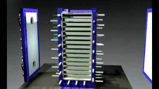 Alfa Laval Compabloc 2-Pass Liquid-Liquid Heat Exchanger for Heating-Cooling