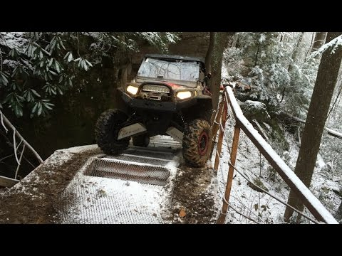 Pickett / Car Hauler on Ice in the Polaris RZR 1000 XP