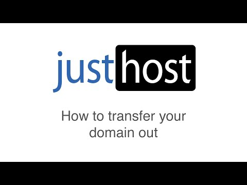 How to transfer a domain out of Justhost