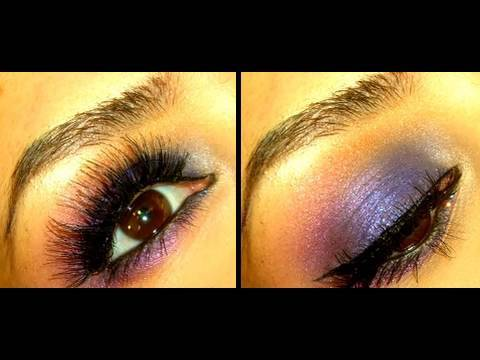 Violet & Cobalt Smokey Eye