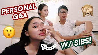 VLOGMAS 2: PERSONAL Q&A W/ MY SIBLINGS *GOT EMOTIONAL* | ThatsBella