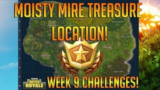 Follow The Treasure Map Found In Moisty Mire Location! Fortnite Battle Royale Free Tier Location!
