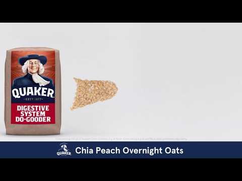 Quaker® Oats | Chia Peach Overnight Oats