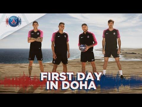 FIRST DAY IN DOHA - Neymar Jr, Mbappé, Cavani - #visitqatar