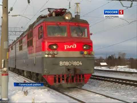 Жители Галичского района вынуждены часами терять время у ж/д переезда у станции Россолово