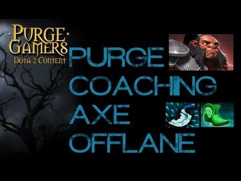 Dota 2 Purge coaching Axe offlane