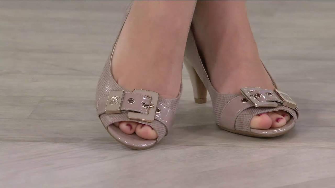 Anne Klein Open Toe Mid-heel Pumps
